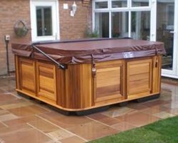 Uk hot tub delivery information another good choice of foundation is pre cast patio slabs make sure they are level and seated well on firm ground sciox Images